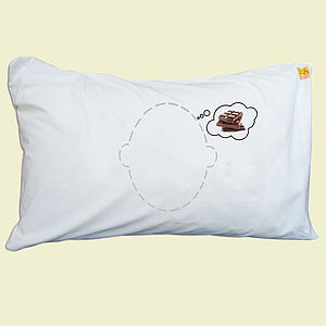 Chocolate Dream Head Case Pillow - children's room