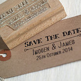Save The Date Personalised Stamp - weddings