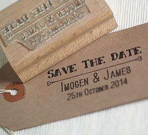 Save The Date Personalised Stamp - winter sale