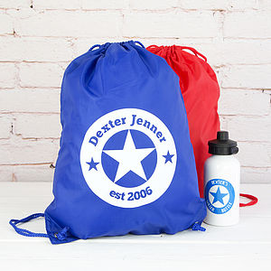 Personalised Star Kit Bag - foldaway bags