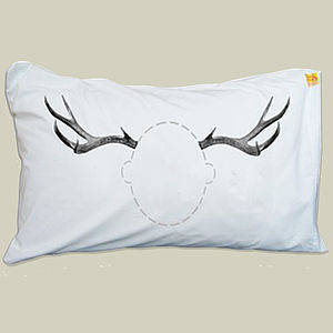 Antlers Head Case Pillowcase - bed linen