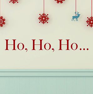 'Ho, Ho, Ho' Christmas Wall Stickers - living room
