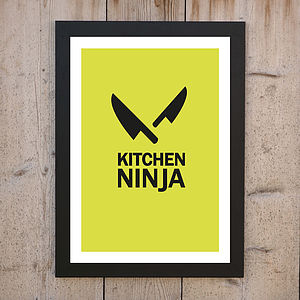 'The Kitchen Ninja' Personalised Print