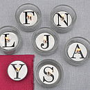 Alphabet Tea Light Candles