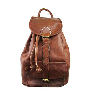 Sac A Dos Leather Backpack