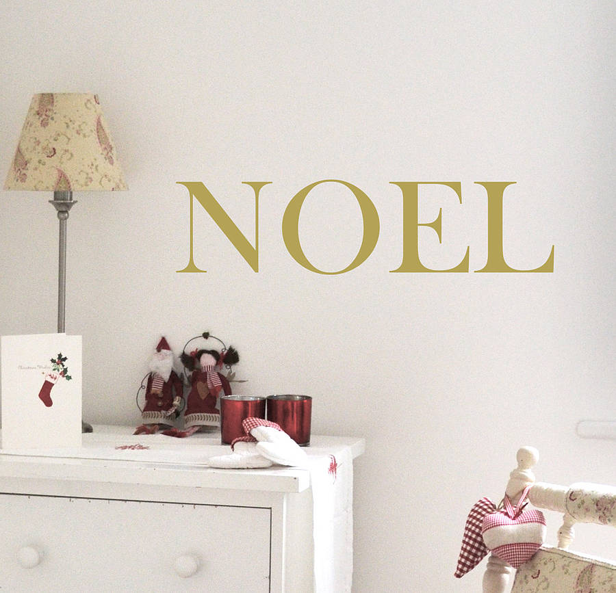 39 noel 39 christmas wall sticker by leonora hammond. Black Bedroom Furniture Sets. Home Design Ideas