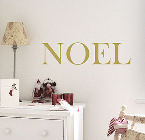'Noel' Christmas Wall Sticker - wall stickers