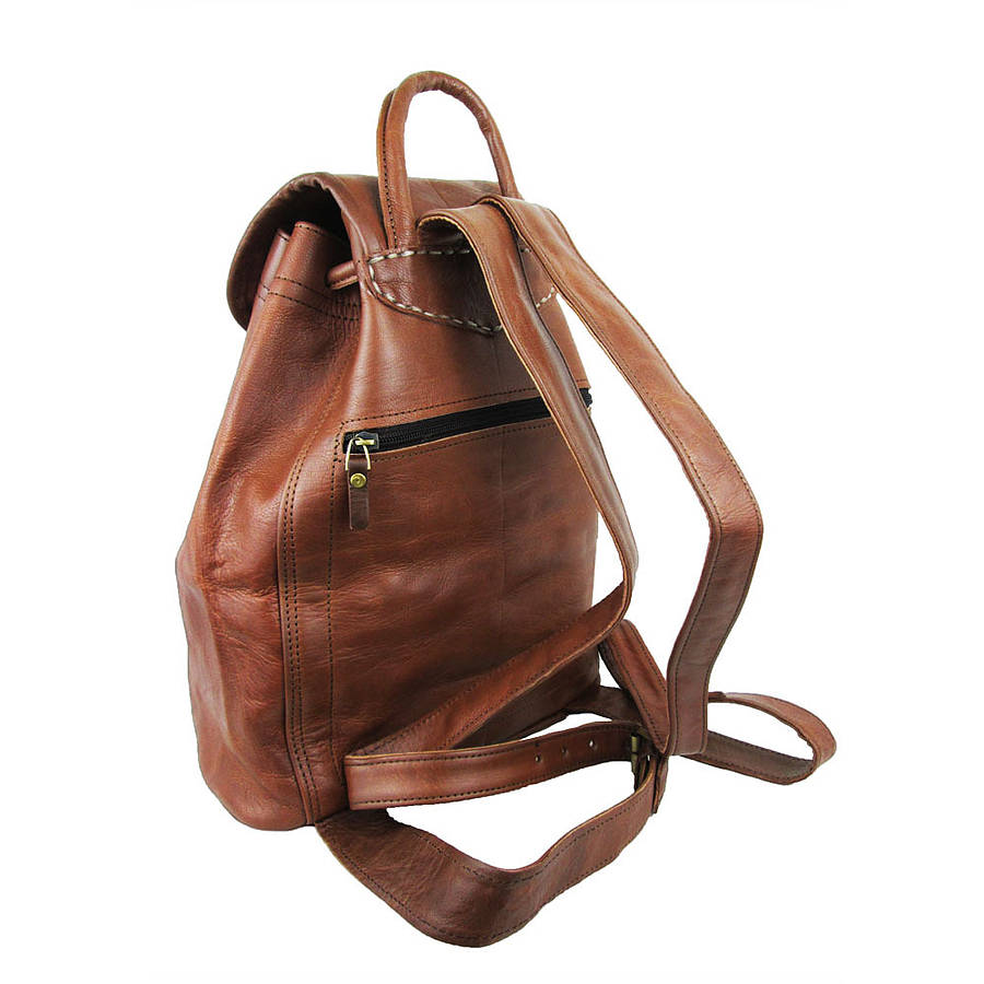 Small Leather Backpack - Crazy Backpacks