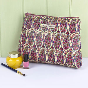 Wash Bag Liberty Print Oilcloth - make-up bags