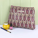 Wash Bag Liberty Paisley Red