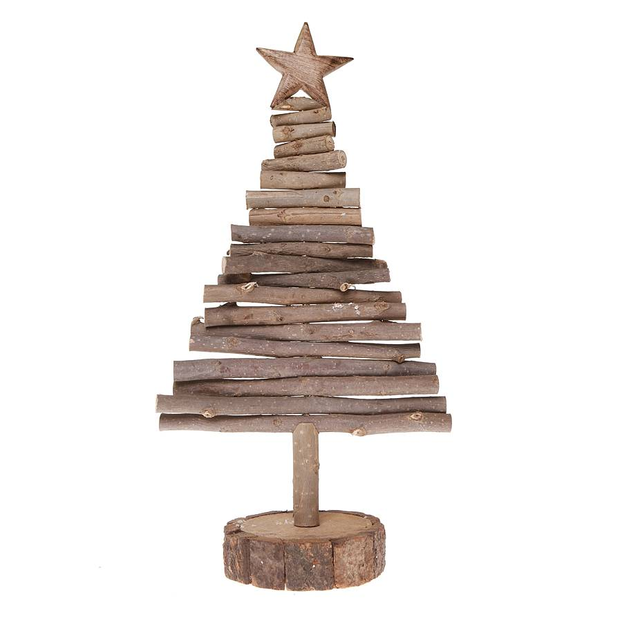 Wooden log christmas tree by little red heart Christmas trees made out of wood