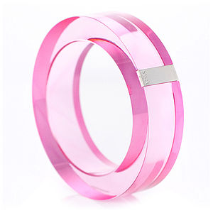 Acrylic And Silver Bangle - women's jewellery