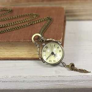Lost In Time Watch Necklace - women's jewellery