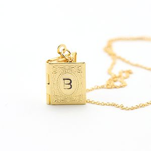 Personalised Mini Book Locket - book-lover