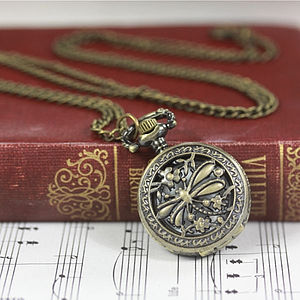 Time Dragonflies By Watch Necklace - necklaces & pendants