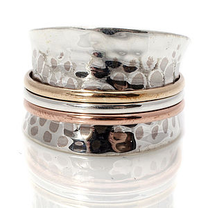 Karma Silver Spinning Ring - rings