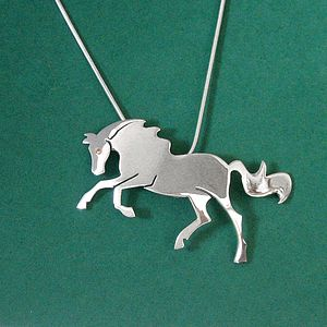 Farrah Horsett Horse Pendant - necklaces & pendants