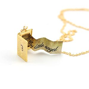 Personalised Paper Note Mini Book Locket - necklaces & pendants