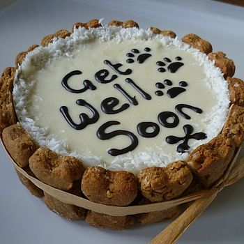 Dog 'Get Well Soon' Cake