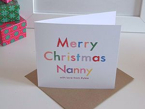 Merry Colour Personalised Christmas Card
