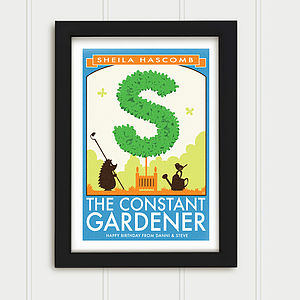 Personalised Garden Topiary Print