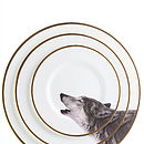 Howling Wolf Bone China Plate