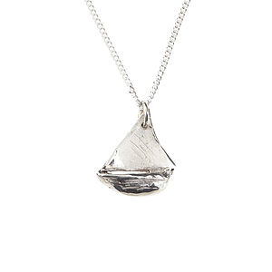 Silver Boat Necklace - necklaces