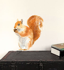 Red Squirrel Wall Sticker - wall stickers
