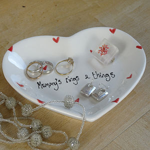 Personalised Heart Dish - jewellery storage & trinket boxes