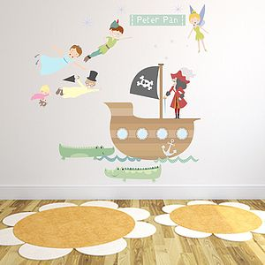 Peter Pan Fabric Wall Stickers - shop by price