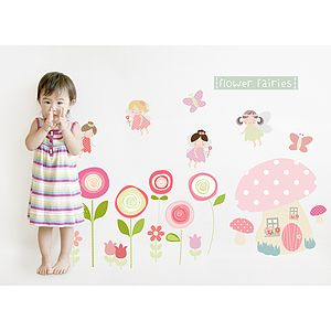 Flower Fairies Fabric Wall Stickers - children's room