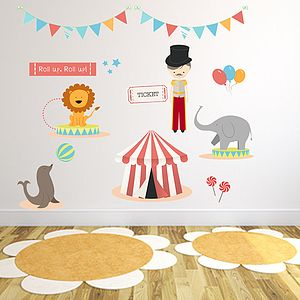 Circus Fabric Wall Stickers