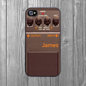 Guitar Pedal iPhone Case Brown