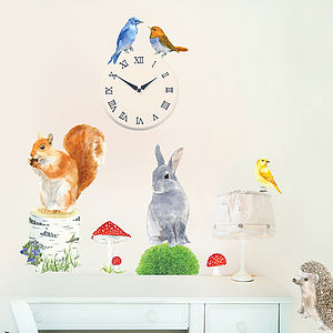Woodland Animals Wall Stickers Size Small - wall stickers by room