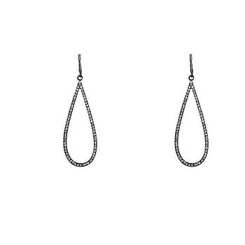 Long Teardrop Earrings With Crystal