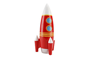 Rocket Money Box - children's storage