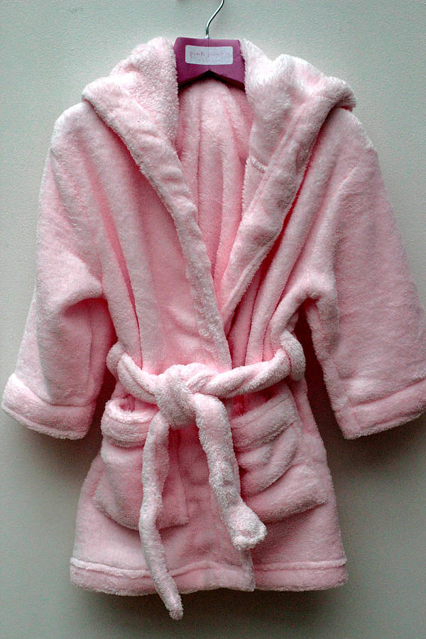 girl\'s pale pink dressing gown by pink bamboo | notonthehighstreet.com