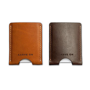 Vegetable Tanned Leather Card Holder - purses & wallets