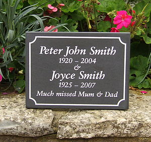 Personalised Slate Memorial Plaque - art & decorations