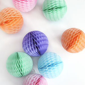 Small Tissue Paper Ball Decoration - pastel palette