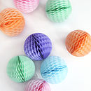 Tissue Paper Ball Decoration