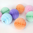 Tissue Paper Ball Honeycomb Party Decoration