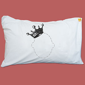 Personalised Luxury Crown Headcase Pillowcase - bedding & accessories