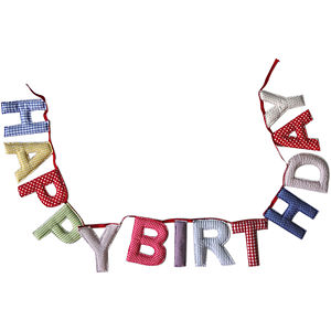 'Happy Birthday' Bunting - children's room accessories