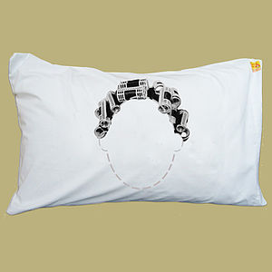 Personalised Curlers Funny Headcase Pillowcase - bedding & accessories