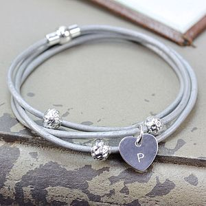 Personalised Wrap And Beads Bracelet - gifts for her