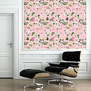 Self Adhesive Pink Floral Pattern Wallpaper
