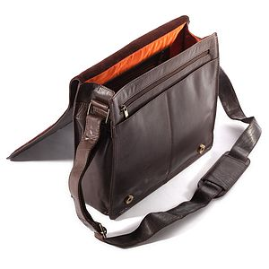 Corsa Flapover Leather Messenger Bag