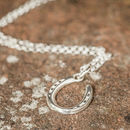 Silver Lucky Horseshoe Necklace