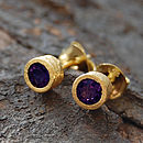 Gold And Gemstone Stud Earrings